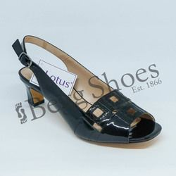 Lotus Heeled Sandals - Black - 50901/30 AUBREY