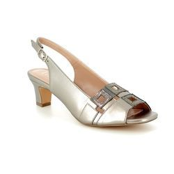 Lotus Heeled Sandals - Pewter - 50901/51 AUBREY