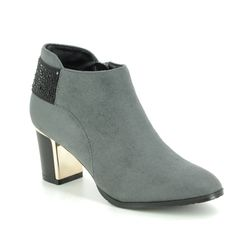 Lotus Ankle Boots - Grey - ULS128/00 BETH