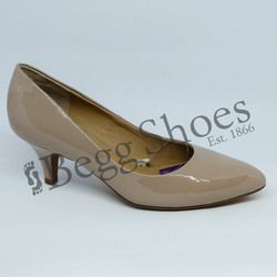 Lotus Court Shoes - Nude Patent - 50594/56 CLIO