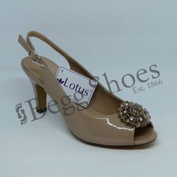 Lotus Heeled Shoes - Nude Patent - 50827/56 ELODIE