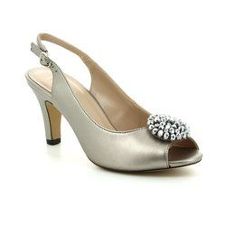 Lotus Heeled Shoes - Pewter - 50827/51 ELODIE