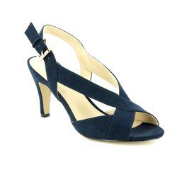 Lotus Heeled Sandals - Navy - 50884/70 ENDIVE
