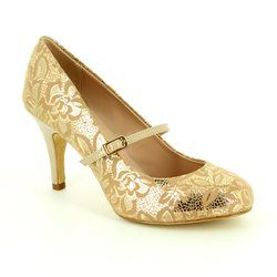 Lotus Heeled Shoes - Gold - 50670/60 FUZINA