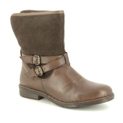 Lotus Fashion Ankle Boots - Brown leather - ULB018/20 GALLATIN