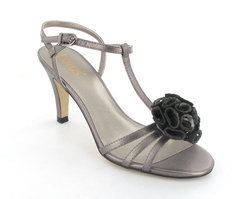 Lotus Heeled Shoes - Pewter - 5033/65 GEORGIA