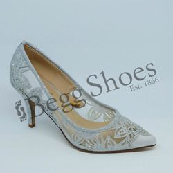 Lotus Heeled Shoes - Silver Glitz - 50910/01 GROOVE