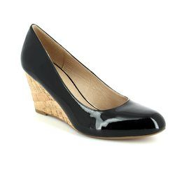 Lotus Wedge Shoes  - Black patent - 50760/40 JELICO