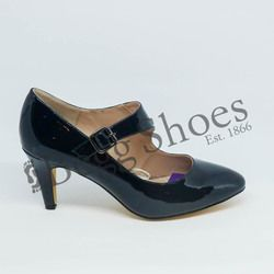 Lotus Heeled Shoes - Navy patent - 50855/70 LAURANA