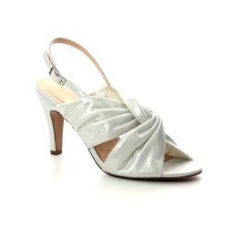 Lotus Slingback Shoes - Off White - ULS074/67 LEANDRA