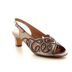 Lotus Heeled Sandals - Pewter - 50902/51 MARIANNA