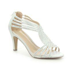 Lotus Heeled Sandals - Silver - ULS164/67 NICOLE