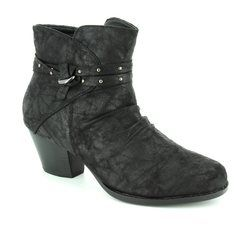 Lotus Boots - Ankle - Black fabric - 40313/30 PHILOX