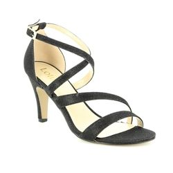 Lotus Heeled Sandals - Black - ULS003/30 RIMES