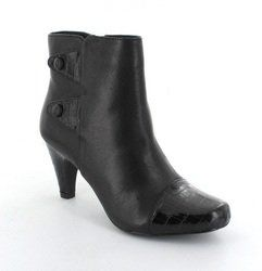 Lotus Boots - Ankle - Black croc - 4012/83 ROBIN