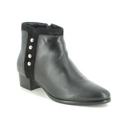 Lotus Ankle Boots - Black leather - ULB168/30 ROSA
