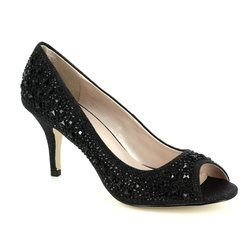 Lotus Heeled Shoes - Black - 50582/30 SERENITY