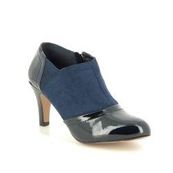 Lotus Shoe Boots - Navy patent - ULS101/70 SKYLAR