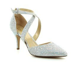 Lotus Heeled Shoes - Silver Glitz - 50911/01 STAR