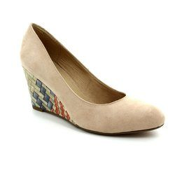 Lotus Wedge Shoes  - Beige - 50823/20 TRINITY