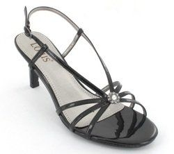 Lotus Heeled Sandals - Black patent - 5570/30 VIVIANA