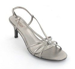 Lotus Heeled Sandals - Pewter - 5570/50 VIVIANA