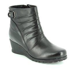 Lotus Wedge Boots - Black - 40289/30 ZAHIRA