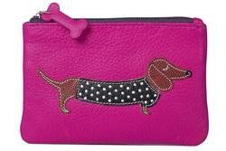 Mala Leathers Purses & Wallets                        - Pink - 4133/65 4133 65 Best Friends Sausgae Dog Coin Purse