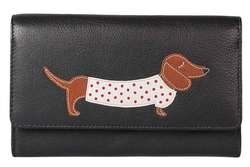 Mala Leathers Purses & Wallets                        - Black multi - 3304/65 3304 65 Best Friends Sausage Dog Purse