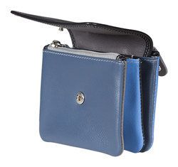 Mala Leathers Purses & Wallets                        - Black multi - 5107/73 5107 78 GRAFTON TRI SECTION COIN PURSE