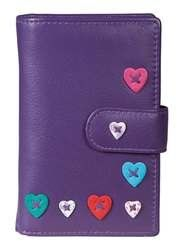 Mala Leathers Purses & Wallets                        - Purple multi - 3188/30 3188 30 Lucy Tab Purse RFID