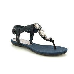 Marco Tozzi Flat Sandals - Navy - 28143/22/824 BIVIO  91