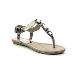 Marco Tozzi Flat Sandals - Pewter - 28143/22/915 BIVIO  91