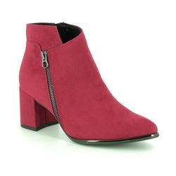 Marco Tozzi Boots - Ankle - Red - 25015/23/500 DELOZIP