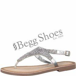 Marco Tozzi Sandals - Silver - 28137/20/941 FLOWER