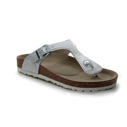 Marco Tozzi Toe Post Sandals - Silver - 27400/22/941 FRANCA
