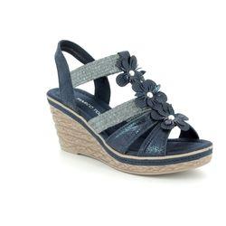 Marco Tozzi Wedge Sandals - Navy - 28302/20/890 FRETO 81