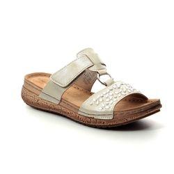 Marco Tozzi Slide Sandals - Platinum - 27505/22/960 FRIDA  91
