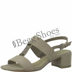 Marco Tozzi Heeled Sandals - Taupe - 28202/20341 HECHO 81
