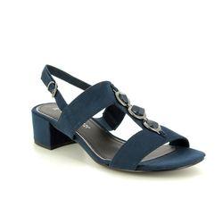 Marco Tozzi Heeled Sandals - Navy - 28200/22/805 HECHOGEM