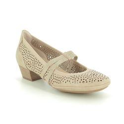 Marco Tozzi Mary Jane Shoes - Beige - 24503/24/404 PAVOBAR 01