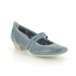 Marco Tozzi Mary Jane Shoes - Navy - 24503/24/803 PAVOBAR 01