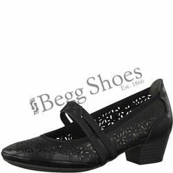 Marco Tozzi Mary Jane Shoes - Black - 24503/20002 PAVOBAR 81