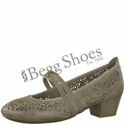 Marco Tozzi Mary Jane Shoes - Taupe - 24503/20341 PAVOBAR 81