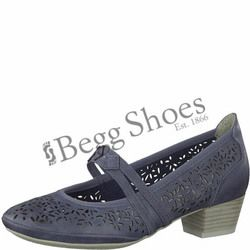 Marco Tozzi Mary Jane Shoes - Navy - 24503/20822 PAVOBAR 81