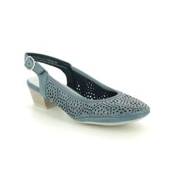 Marco Tozzi Slingback Shoes - Navy - 29510/24/803 PAVOSLI