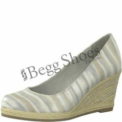 Marco Tozzi Espadrilles - Light grey multi - 22418/20248 SENWEDGE STRIP