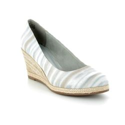 Marco Tozzi Espadrilles - Light grey multi - 22418/20/248 SENWEDGE STRIP