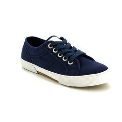 Marco Tozzi Trainers & Canvas - Navy - 23606/805 SUPER