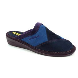 Nordikas Slippers & Mules - Navy multi - 4507/77 MUSPATCH 72